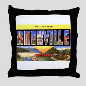 Knoxville Tennessee Greetings Throw Pillow