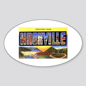Knoxville Tennessee Greetings Oval Sticker