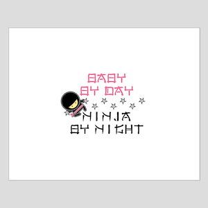 Baby Ninja Pink Small Poster