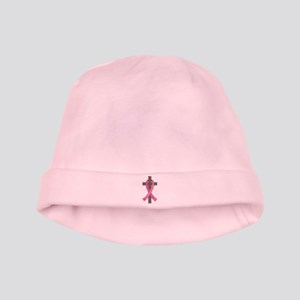 Breast Cancer Cross baby hat