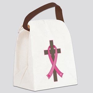 Breast Cancer Cross Canvas Lunch Bag