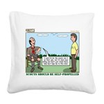 Scout Run Square Canvas Pillow