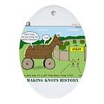 Trojan Horse Ornament (Oval)