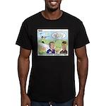 Shotgun Shooting Men's Fitted T-Shirt (dark)