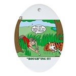 Golf Ornament (Oval)