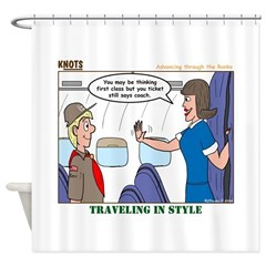 First Class Shower Curtain