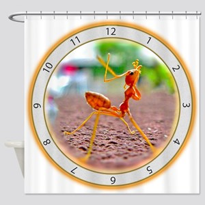 Red Ant Heads Up Shower Curtain