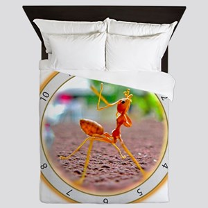 Red Ant Heads Up Queen Duvet