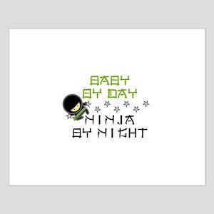 Baby Ninja Green Small Poster
