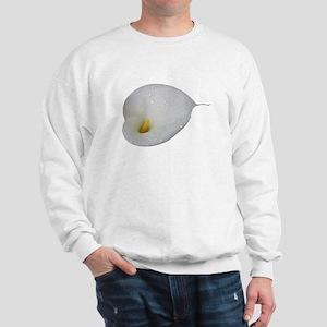 Dew-drop White Calla Lily Flower Sweatshirt