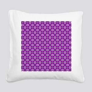Purple Kitty Square Canvas Pillow