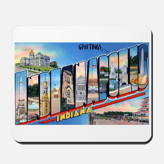 Indianapolis Indiana Greetings Mousepad