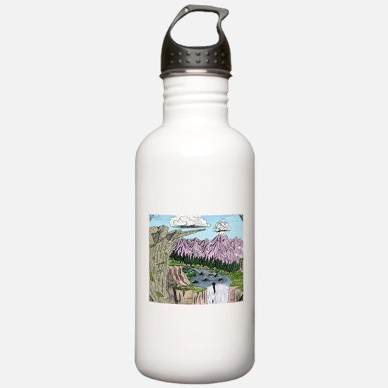 """Cliffs and Mountains"" Water Bottle"