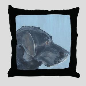 """Black Lab"" Throw Pillow"