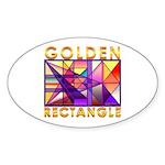 Golden Rectangle Oval Sticker