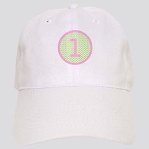 Pink and Mint Green First Birthday ONE Cap