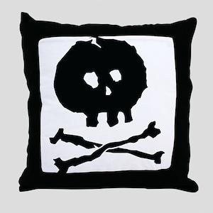 Skull and Cross Bones - Rough Throw Pillow