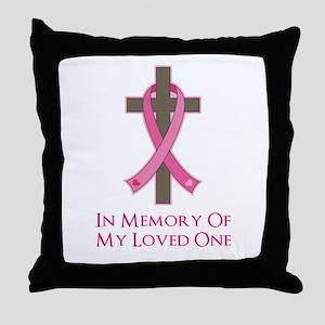 In Memory Cross Throw Pillow