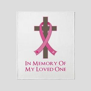 In Memory Cross Throw Blanket