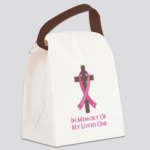 In Memory Cross Canvas Lunch Bag