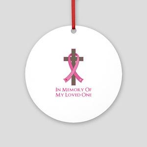 In Memory Cross Ornament (Round)