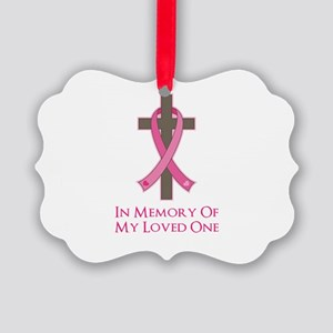 In Memory Cross Picture Ornament