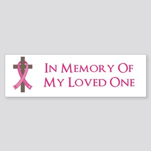 In Memory Cross Sticker (Bumper)
