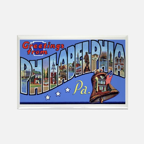 Philadelphia Pennsylvania Greetings Rectangle Magn