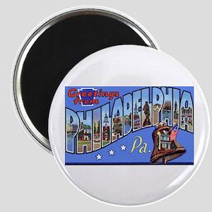 Philadelphia Pennsylvania Greetings Magnet
