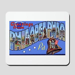 Philadelphia Pennsylvania Greetings Mousepad