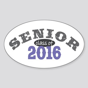 Senior Class of 2016 Sticker (Oval)