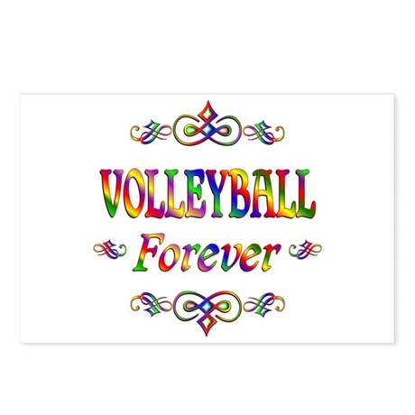 Volleyball Forever Postcards (Package of 8)