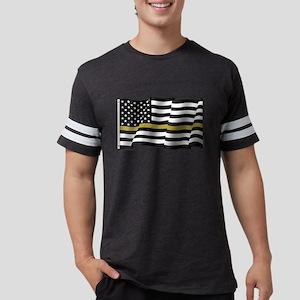 Thin Gold Line Flag Mens Football Shirt