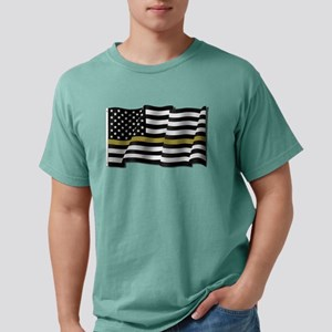 Thin Gold Line Flag Mens Comfort Colors Shirt