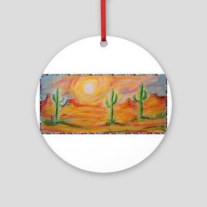 Desert, scenic southwest landscape! Ornament (Roun