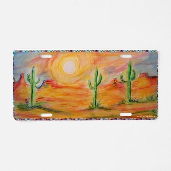 Desert, scenic southwest landscape! Aluminum Licen