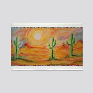 Desert, scenic southwest landscape! Rectangle Magn