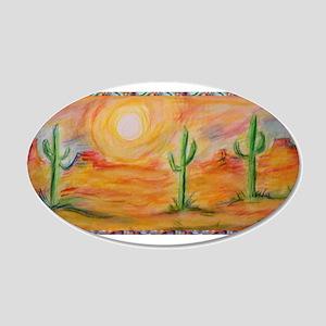 Desert, scenic southwest landscape! 20x12 Oval Wal