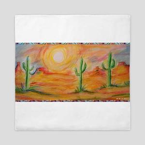 Desert, scenic southwest landscape! Queen Duvet