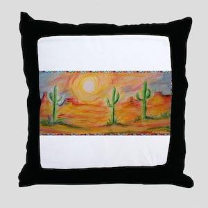 Desert, scenic southwest landscape! Throw Pillow