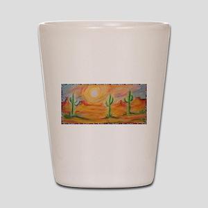 Desert, scenic southwest landscape! Shot Glass
