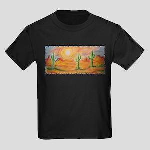 Desert, scenic southwest landscape! Kids Dark T-Sh