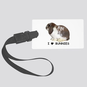 i love bunnies Large Luggage Tag