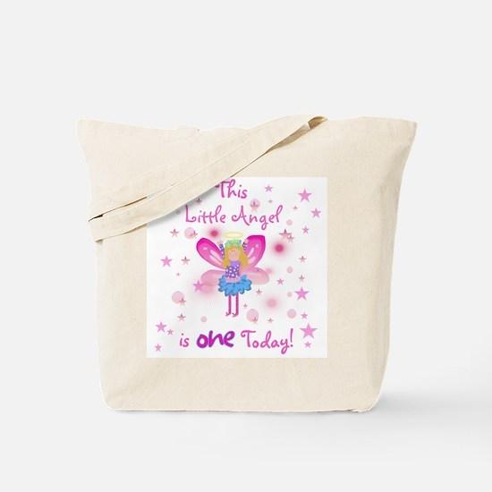 Birthday Angel 1st Birthday Tote Bag
