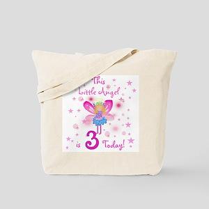 Birthday Angel 3rd Birthday Tote Bag