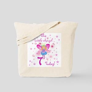 Birthday Angel 7th Birthday Tote Bag