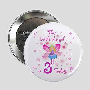 Birthday Angel 3rd Birthday Button