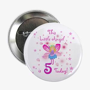 Birthday Angel 5th Birthday Button