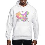 China Map Hooded Sweatshirt