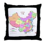 China Map Throw Pillow